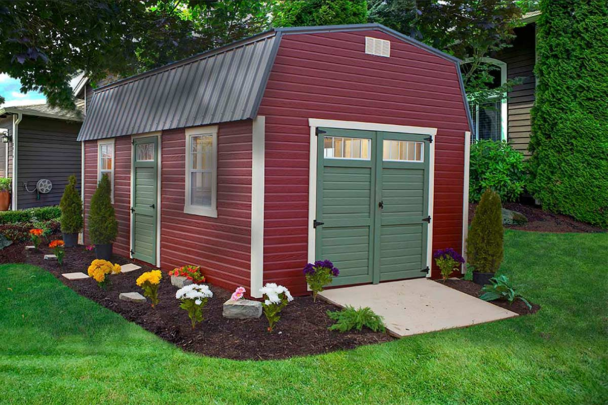 high barn with dutchlap siding garden shed with - Garden Sheds Ohio