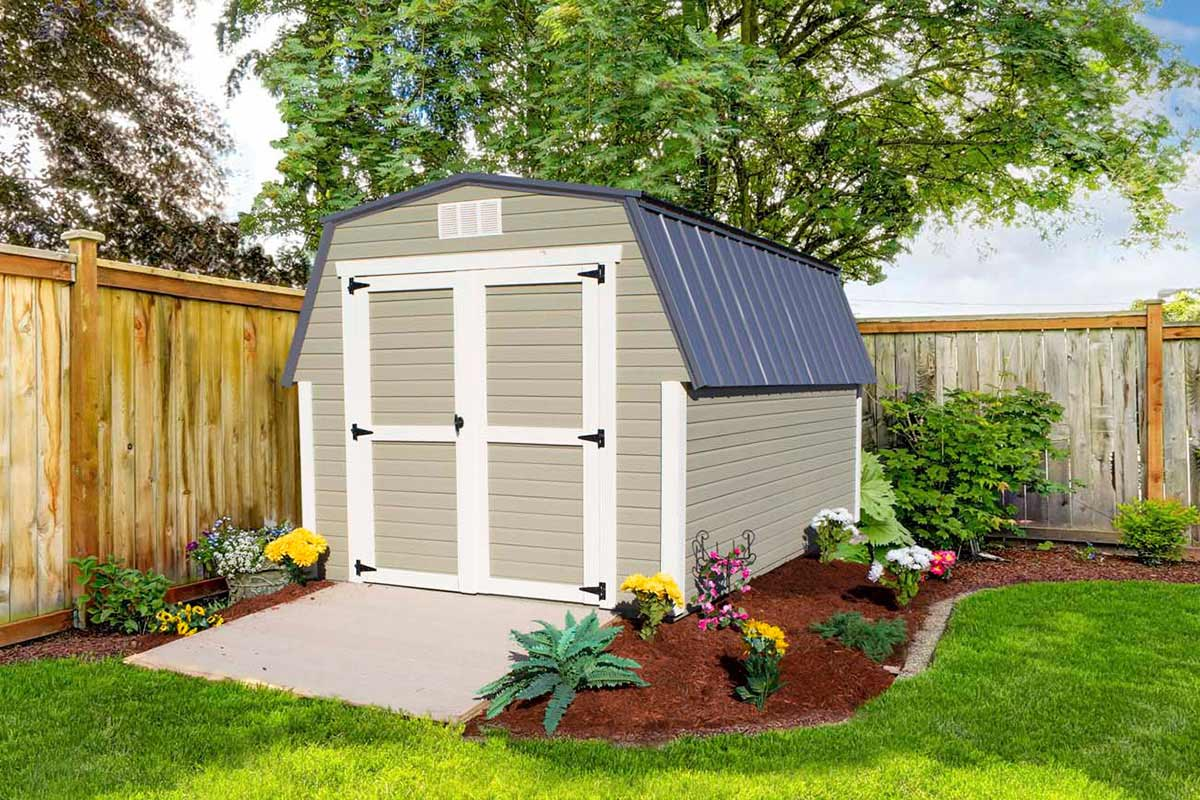 high barn with dutchlap siding garden shed with dutchlap siding mini barn with dutchlap siding - Garden Sheds Ohio